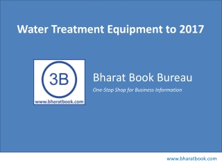 Water Treatment Equipment to 2017