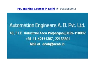 PLC Training Courses in Delhi