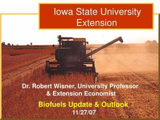 Dr. Robert Wisner: Grain Outlook  3