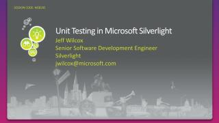 Unit Testing in Microsoft Silverlight