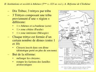 II. Institutions et soci t    Ath nes 5 me s.-323 av. n. .. A. R forme de Clisth ne