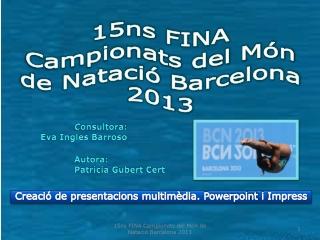 Campionats Natacio Barcelona 2013