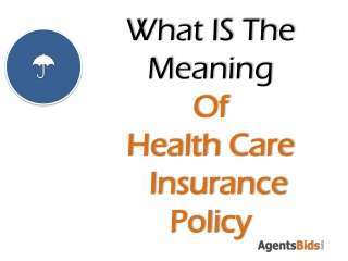 what are the benifits for health care insurance