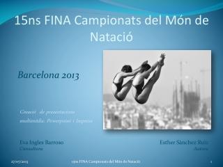 15ns FINA Campionats del M