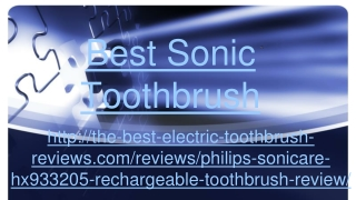 best sonic toothbrush