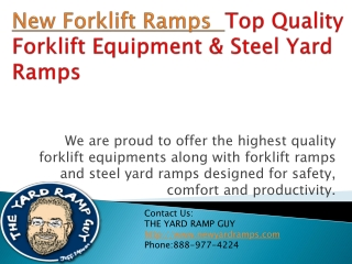 Top Quality Forklift Equipment