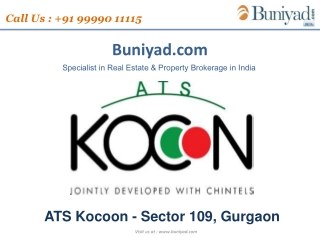 ATS Kocoon Gurgaon Sector 109 offers buniyad.com