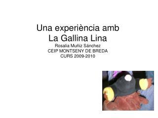 Una experi ncia amb  La Gallina Lina Rosalia Mu iz S nchez CEIP MONTSENY DE BREDA CURS 2009-2010