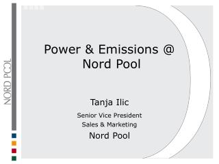 Power  Emissions   Nord Pool