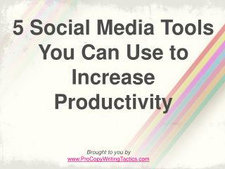5 social media tools