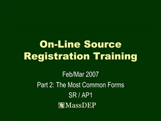 On-Line Source Registration Training