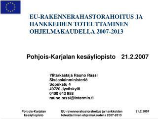 Pohjois-Karjalan kes yliopisto