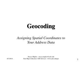 Geocoding