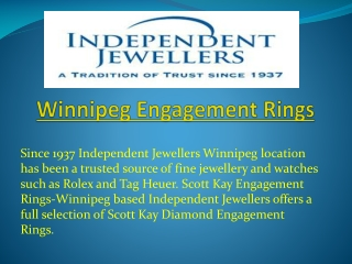 Winnipeg Engagement Rings