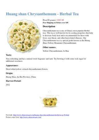 Huang shan Chrysanthemum