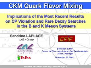 CKM Quark Flavor Mixing