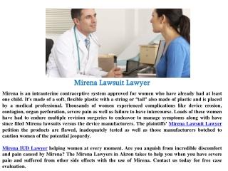 Mirena lawsuit lawyer