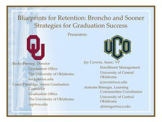 Blueprints for Retention: Broncho and Sooner Strategies for Graduation Success