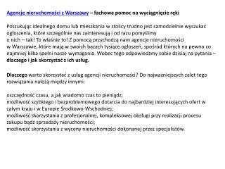 Agencja nieruchomości w Warszawie