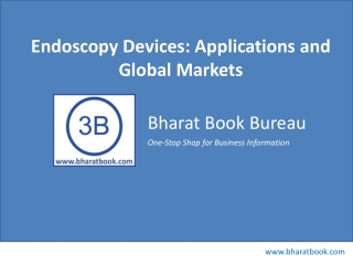 Endoscopy Devices: Applications and Global Markets