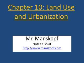 Chapter 10: Land Use and Urbanization