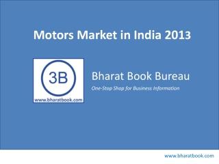 Motors Market in India 2013