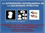 LA INTERVENCI N PSICOPEDAG GICA EN LA DISCAPACIDAD INTELCTUAL