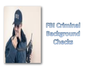 FBI Criminal Background Checks