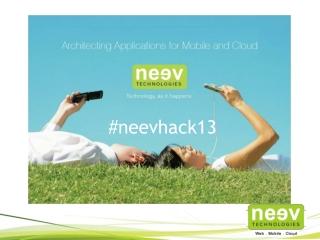 Neev Hackathon - 2013