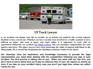 US Truck Lawyer