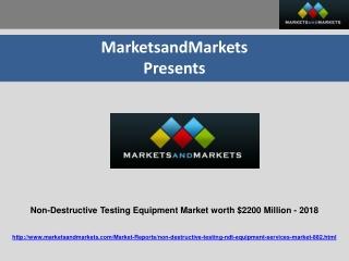Non-Destructive Testing Equipment Market worth $2200 Million