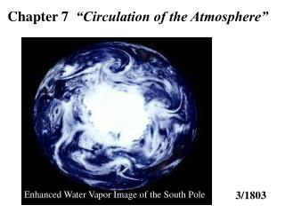 Chapter 7   Circulation of the Atmosphere