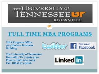 Full time mba programs