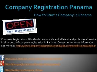 company registration in Panama