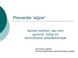 Preventie  wijzer