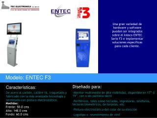 Modelo: ENTEC F3