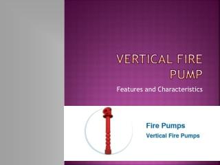 Fire Pump Characterstics