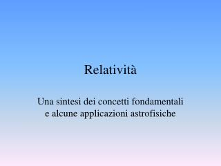 Relativit