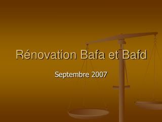R novation Bafa et Bafd