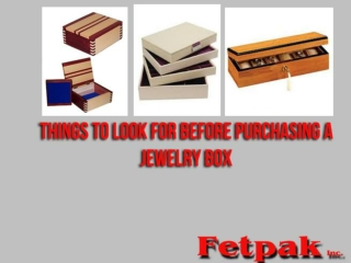 Things To Look For Before Purchasing A Jewelry Box