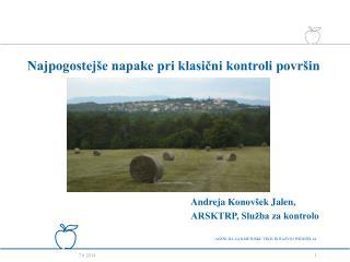 Andreja Konov ek Jalen, ARSKTRP, Slu ba za kontrolo