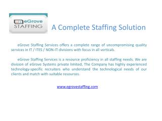 egrove systems's staffing services