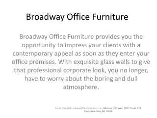 Broadway Office Furniture