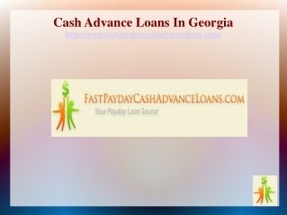 Cash Advance Loans In Georgia