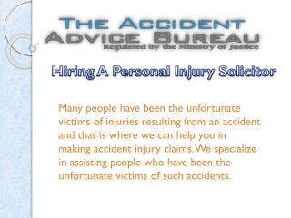 Hiring A Personal Injury Solicitor