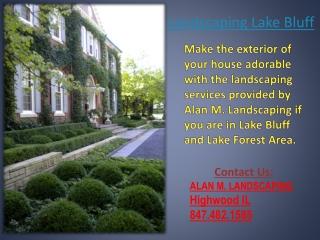 Landscaping lake bluff