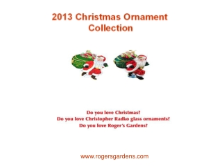 2013 Christmas Ornament Collection