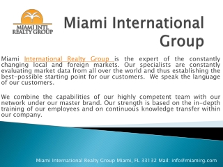 Miami International Realty Group