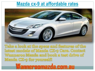 Mazda cx-9 at affordable rates