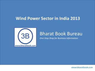 Wind Power Sector in India 2013